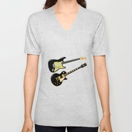 Elecric Guitars Unisex V-Neck