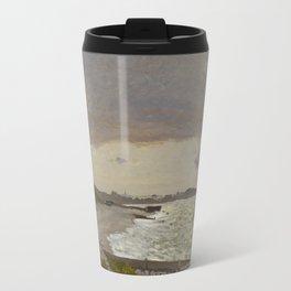 The Seashore at Sainte-Adresse Travel Mug