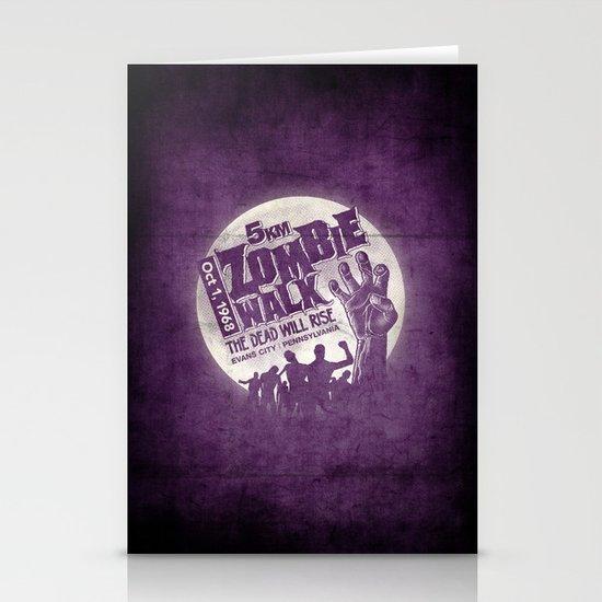 Zombie Walk Stationery Cards