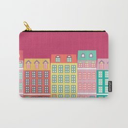 Colourful Buildings Carry-All Pouch