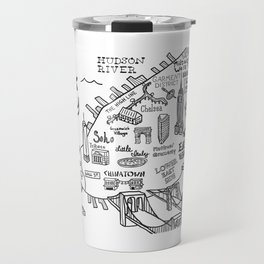 New York City Map Travel Mug