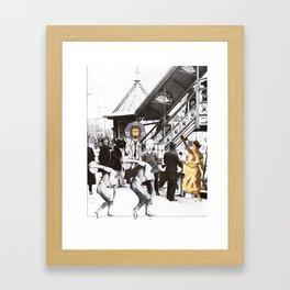 Down on Main Street Framed Art Print