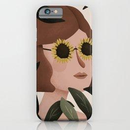 Margot Sunflower Portrait iPhone Case