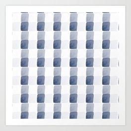 Chambray, abstract square pattern Art Print