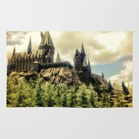witchcraft Area & Throw Rugs featuring Hogwarts School of Witchcraft and Wizadry  by JairovPhotolab