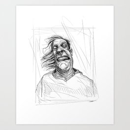 An Ugly Man Art Print