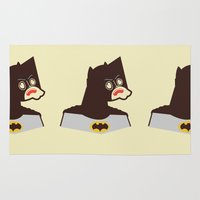 bat man Area & Throw Rugs featuring Bat Man by Ryder Doty
