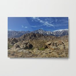 Picture California USA Alabama Hills Nature Metal Print