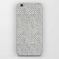 Hand Knit Grey iPhone & iPod Skin