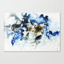 Blue, brown and black abstract Canvas Print