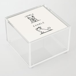 Inhale Exhale Frenchie Acrylic Box
