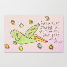 Free Bird - Pelican Canvas Print