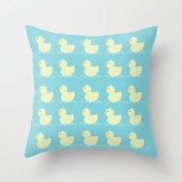 ducks Throw Pillows featuring Ducks  by Art à la Mutuz