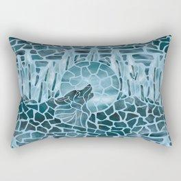 Moonlight Story (Light Blue) Rectangular Pillow