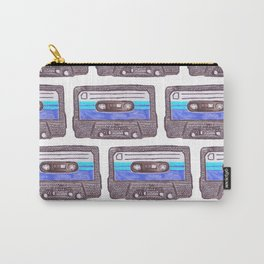Cassette Pattern *Dark Blue Carry-All Pouch