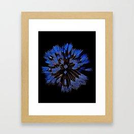Dew On Dandelion, Wild Mandala Framed Art Print