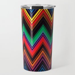 Zigzag Crochet Abstract Pattern Travel Mug
