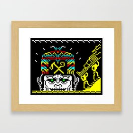 The Journey of the Sun page 2 (teletext) Framed Art Print