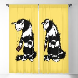Weird Cat Character Loves Chocolate Blackout Curtain