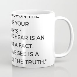 Stoic Philosophy Quote by Marcus Aurelius Coffee Mug
