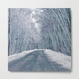 DRIVE - WAY - SNOW - PHOTOGRAPHY Metal Print
