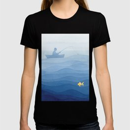 Fisherman & gold fish T-shirt