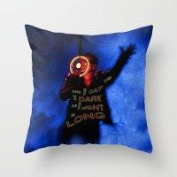 u2 Throw Pillows featuring U2 / Bono / Baby Light My Way by JR van Kampen