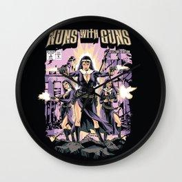 Nuns With Guns Wall Clock