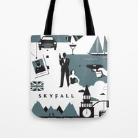 skyfall Tote Bags featuring Skyfall by Brandon Riesgo