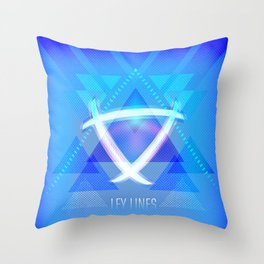 Neon Ley Lines Throw Pillow