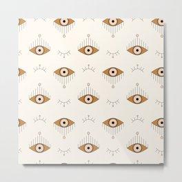 Tfu Tfu Tfu / Evil Eyes Pattern Metal Print