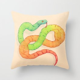GELATIN SNAKE Throw Pillow