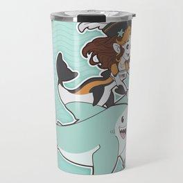 Mermaid & Shark Pirates Travel Mug