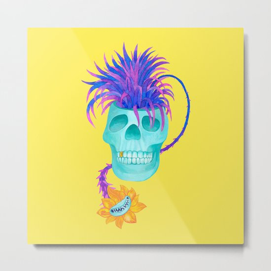 Rad cool skull Metal Print