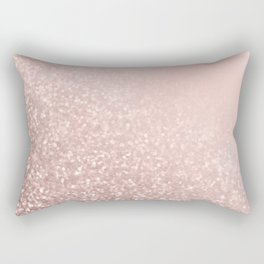 Rose Gold Sparkles on Pretty Blush Pink VI Rectangular Pillow
