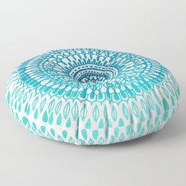 Radiate in Teal + Emerald Floor Pillow