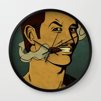 watchmen Wall Clocks featuring It's Always Sunny in Watchmen - Mac by Jessica On Paper