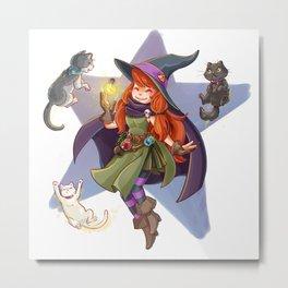 Fufunha Witch Metal Print