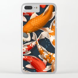 Koi Fishes Clear iPhone Case