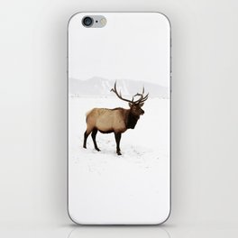 Standing Elk in Jackson Hole, Wyoming iPhone Skin