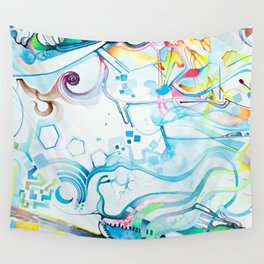 Fibroblasts - Watercolor Painting Wall Tapestry