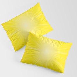 Yellow Radial Pattern. Starburst. Sunbeam. Sunray Pillow Sham