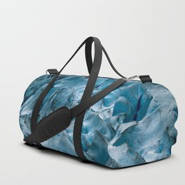 Blue Ice Glacier in Norway - Landscape Photography Duffle Bag