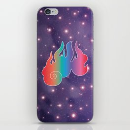 Rainbow Flame of God's Wrath in Universe iPhone Skin