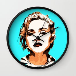 Blue Madonna Wall Clock