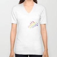 prism V-neck T-shirts featuring Prism Break by RJ Artworks