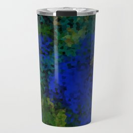 Peacock crystal mosaic Travel Mug