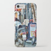 greek iPhone & iPod Cases featuring Greek Street by Teresa Pople