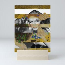 Klimt's The Kiss & Rita Hayworth with Glenn Ford Mini Art Print