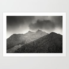 Mountains in Anticipation Art Print
